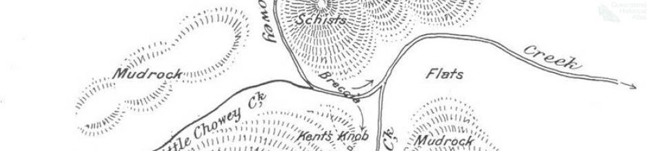 Geological sketch map Mount Shamrock, 1901