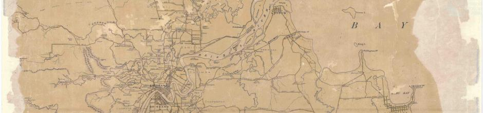 Cyclists' Road Map of Brisbane and Surrounding Districts, 1896, Sheet 1 and 2