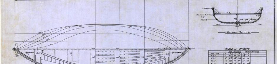 Whale boat plan, 1950