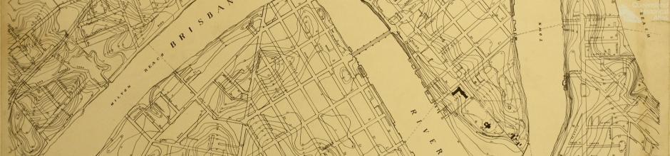 United States Army map of Brisbane, c1941