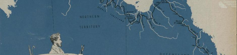 Route travelled by the Leichhardt Expedition 1844-45, 1963