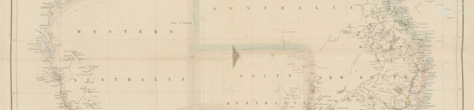 Gold regions Australia, 1850s