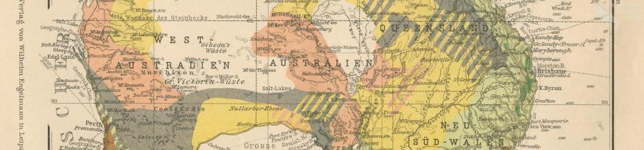 Vegetation map of Australia, 1906