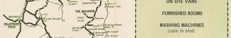 Tourist map of Cairns & Innisfail showing Paronella Park, 1953